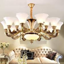 zinc alloy atmospheric crystal european chandelier compound house living room images