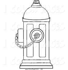 Small Picture Vector Coloring Page of a Coloring Page of a Fire Hydrant with a
