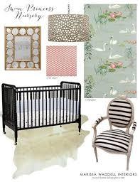 swan princess baby girl nursery jenny lind crib oly studio meri drum chandelier