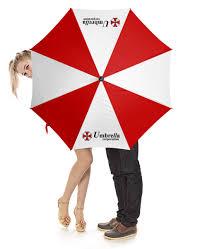 Зонт-трость с деревянной ручкой <b>Обитель зла</b>. <b>Корпорция</b> ...