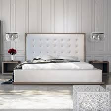 modloft ludlow 3 piece platform bedroom set in walnut and white eco leather
