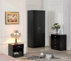 black bedroom furniture sets. Perfect Black Harmin  Ossotto Black Gloss Soft Close Wardrobe Set Throughout Bedroom Furniture Sets