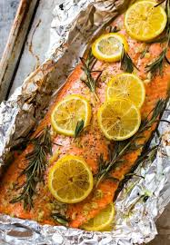 Line a large rimmed baking sheet with foil and grease with cooking spray. Baked Salmon In Foil Easy Healthy Recipe