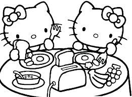 Free Hello Kitty Coloring Pages Thewarfareismental Info