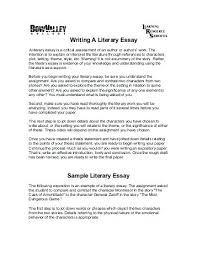 Response Essay Format Literature Essay Literary Essay Personal