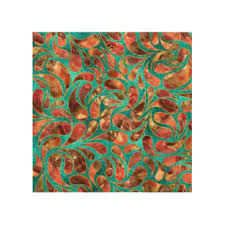 gold framed red gemstone paisley pattern on teal wood print on paisley print wall art with elegant paisley pattern wood wall art zazzle