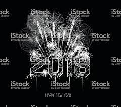 新しい年 2018 のポリゴンのラインと花火背景 2018年のベクターアート