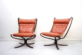 norwegian vintage office chair. Norwegian Falcon Cognac Leather Lounge Chairs By Sigurd Ressell For Vatne Møbler, 1970s, Set Of 2 Vintage Office Chair E