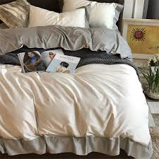 bed linen quality egyptian cotton duvets directly from china king queen size suppliers chausub solid color bedding set satin egyptian cotton