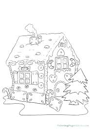 Coloring Pages Gingerbread House Cloudberryladycom
