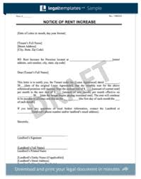 how to write a rent increase notice make a free lease termination letter in minutes templates