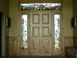 custom made stained glass side lights and transom trout theme sidelights patterns