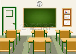 classroom table vector. empty school classroom with blackboard and desks vector table d