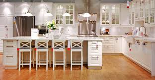 Ikea Kitchen Remodeling Luxurious White Wooden Ikea Kitchen Cabinets On Cool Brown