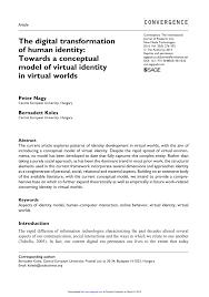 Pdf Human Identity Transformation The Of Digital rIXrqF