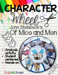 of mice and men character wheel interactive notebook activity of mice and men character wheel interactive notebook activity great american literature novel written by john steinbeck george lennie curley slim