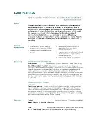 Resume Templates Education Enchanting Resume Template Education Emphasis Elementary Teacher Sample