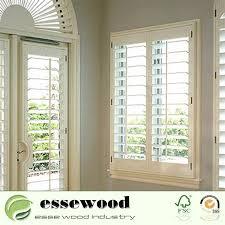 china painted color sliding wood or pvc plantation shutter shutter sliding door for house decoration china window shutter interior shutter