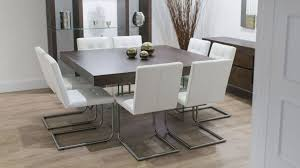 contemporary dining room chairs awesome square kitchen table seats 8 regarding alluring modern round dining