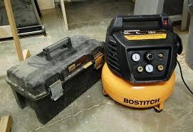 bostitch 6 gallon pancake compressor review canadian woodworking bostitch btfp02011 1