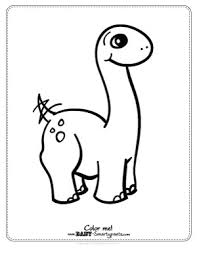 Small Picture Free Coloring Page cute baby dinosaur Busy Little Hands