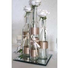 SET3 Decorated Wine Bottle Centerpiece Champagne by DazzlingGRACE, $35.00