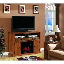 Sedona 52-Inch Electric Fireplace Media Console - Rustic Oak ...