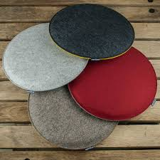 werktat felt seat cushions padded round chair cushions bench cousions stuffed upholstered