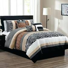 brown beige black white grey zebra giraffe animal print cal king comforter set