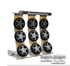 Alloy Wheel Display Stand tire retail displays tyre display rack stand store fixtures shop 26