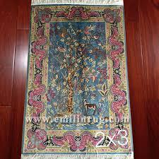 1a 2ft x 3ft small handmade silk rugs