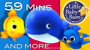 the little blue whale plus lots more nursery rhymes 59 minutes pilation from littlebaby you