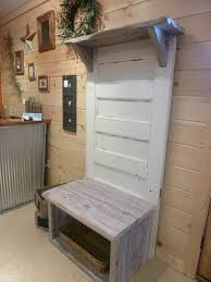 door entry bench fence row furniture entrance hallway old coat rack bench diy hall tree