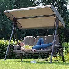 tamarin 3 seater garden swing seat plus