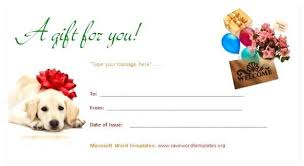 Gift Certificate Word Template | Nfcnbarroom.com