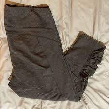 Ruched Gray Capris