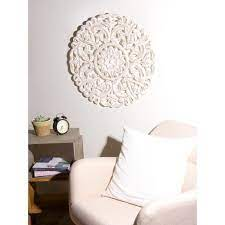 3.5 out of 5 stars with 6 ratings. Best Home Fashion Round Decorative Whitewashed Carved Wood Wall Panel Wall Rr12 White The Home Depot