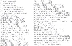 balancing chemical equations worksheet 1 10 tessshlo balancing chemical equations worksheet answer key