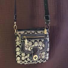 Coach Willis lock Crossbody black and khaki purse