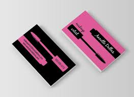 create a mirror image design on both sides makeup artist business cards