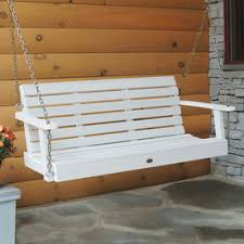 outside swing bench. Plain Outside Highwood USA Weatherly White Porch Swing For Outside Bench L