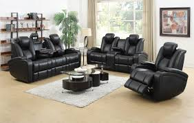 Reclining Living Room Set Coaster Delange Reclining Power Sofa With Adjustable Headrests