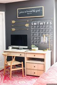 office wall decorating ideas. Dress Up Your Home Office And Learn How To Make A Stylish DIY Acrylic Calendar With Wall Decorating Ideas F