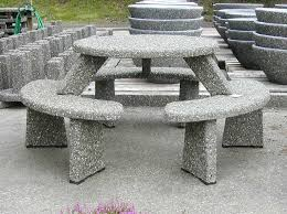 our concrete tables and benches are built to last