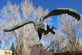 american eagle by chris coleman it is one of the sculptures featured during art around the corner s 2017 18 outdoor gallery offerings as well as the