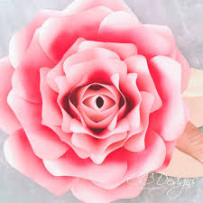 Rose Flower With Paper Giant Paper Flowers How To Make Paper Garden Roses With Step By Step
