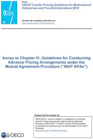 Annex To Chapter Iv Guidelines For Conducting Advance Pricing