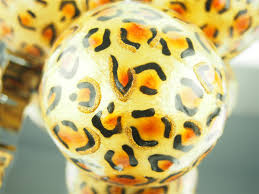 Leopard Decorative Balls Capiz Large Decorative Balls Orbs Spheres African Safari Leopard 9