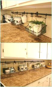 uncluttered kitchen counter instruction diy space saving s to organize your kitchen