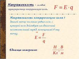 Презентация по теме Электростатика класс Напряженность электрического поля в данной точке численно равна силе с котор